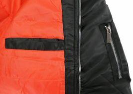 Men's Premium Water Resistant Zip Up Flight Black Bomber Jacket w/ Defect - 3XL image 3