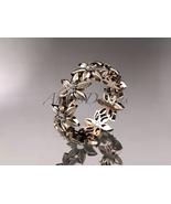 Floral Wedding band, 14kt rose gold diamond leaf and vine engagement rin... - $935.00