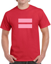 078 Pink Equality mens T-shirt gay lesbian rights world peace liberal gender new - $15.00+