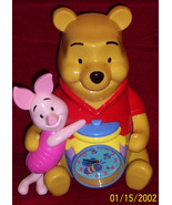 Winnie The Pooh and  Piglet clock/bank combination Disney  A.A. Milne  - $24.99