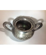 Vintage Van Bergh Silver Plate Co. Rochester NY Sugar bowl - $34.65