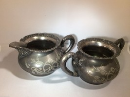 Vintage Van Bergh Silver Plate Co. Rochester NY Sugar bowl & creamer set - $44.55