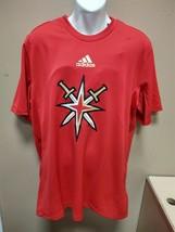 adidas Las Vegas Knights 21 Short Sleeve Training Tee Mens Medium Red GT... - $19.00