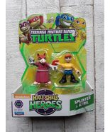 Teenage Mutant Ninja Turtle TMNT Half Shell Heroes Splinter and April 96105 - $25.00