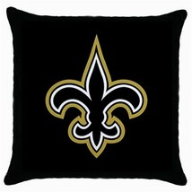 New Orlean Saints Black Throw Pillow Case Home ... - $15.00