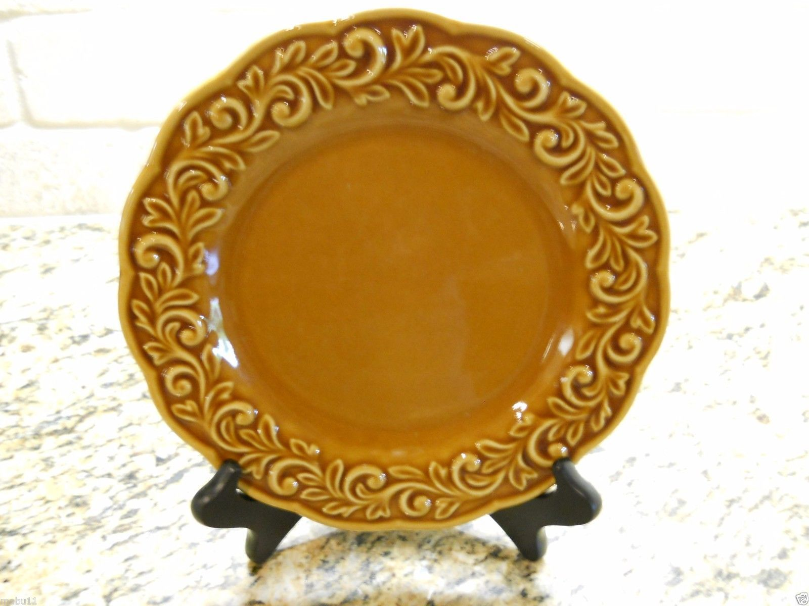 "Primary image for Certified International Venetian AMBER GOLD 9 1/4"" Salad PlateS SET OF 4"