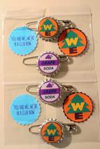 Set of 4 Replica Ellie Badge GRAPE SODA & WE Badge Bottlecap Pins 4 Stic... - $9.00