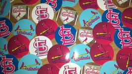 """Set of 56- 1"""" Precuts of """"ST LOUIS CARDINALS"""" Bottle Cap Images. For mak... - $3.00"""