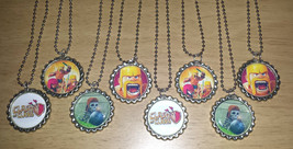 Set of 8 CLASH OF CLANS Flat Bottlecap Necklaces! Fast Shipping!! - $9.00