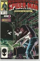 """Spectacular Spider-Man #131 """"Descent"""" Pt 3 Marvel Comics 1987 Peter Parker - $14.99"""