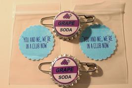 Set of 2 Replica ELLIE Badge GRAPE SODA Bottlecap Pins! 2 Sticker Gift B... - $4.50