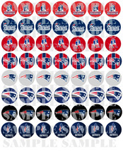 """Set of 56- 1"""" Precuts of """"NEW ENGLAND PATRIOTS"""" Bottle Cap Images. For m... - $3.00"""