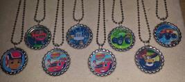 Set of 8 Blaze & The Monster Machines Flat Bottlecap Necklaces! Fast Shi... - $8.00