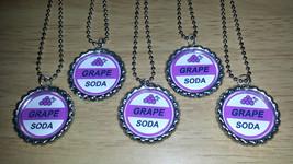 "Set of 5 GRAPE SODA Flat Bottlecap 24"" Necklaces! Fast Shipping!! UP - $6.50"