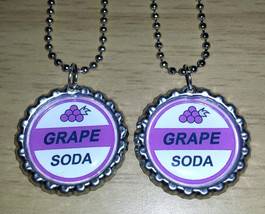 "Set of 2 GRAPE SODA Flat Bottlecap 24"" Necklaces! Fast Shipping!! UP - $3.25"