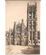 c1910 - St. Jacques Church, Dieppe, France - Unused - $2.99