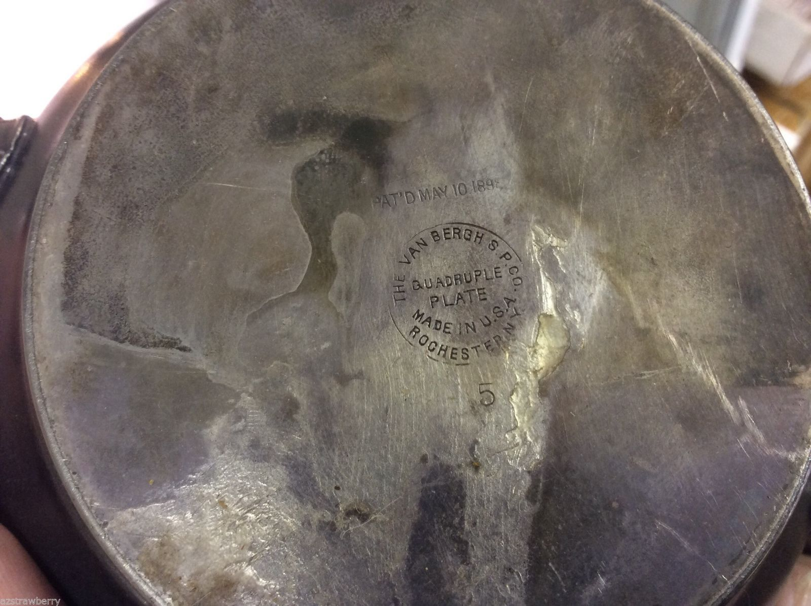 Vintage Van Bergh Silver Plate Co. Rochester NY Sugar bowl