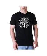 St. Benedict medal Mens shirt Catholic tee Sain... - $14.99