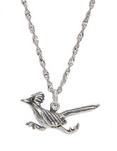 Sterling Silver Road Runner Bird Charm With Thin Singapore Necklace - $22.43+