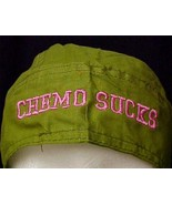Pink Chemo Sucks Army Green Breast Cancer Hat Durag Cap One Size Cotton New - $15.65