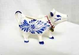 Vintage Cow Creamer Hand painted Porcelain Wind... - $34.27