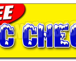 "24"" FREE A/C CHECK DECAL sticker air conditioning retail storefront marketing"