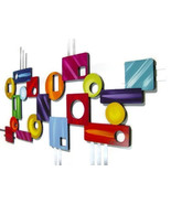 """Colorful Contemporary Geometric Modern Abstract Wall Sculpture """"Imagine""""... - $449.99"""