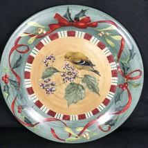 "Lenox Winter Greetings Everyday GOLDFINCH Dinner Plate 10 3/4"" Dia Chris... - $14.84"