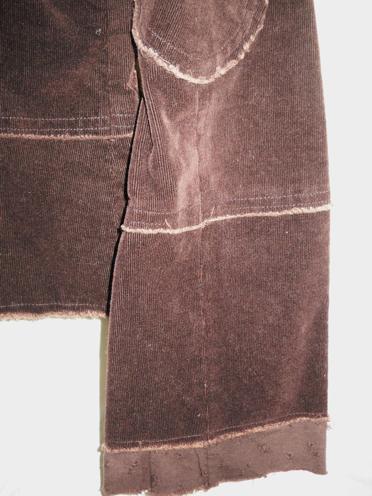 Joystick brown fall cotton corduroy embroidered jacket