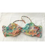 Victoria's Secret Bandeau Bikini Twist Front Swim Top Pastel Colors size... - $19.77