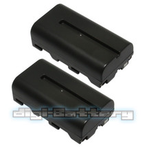 TWO BATTERIES + Charger Pack for Sony NP-F550 NP-F330 NP-F530 NP-F570  2.5Ah image 4