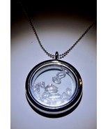 Herkimer Diamond Quartz 12pcs.  Floating Memory Locket Necklace - $17.00