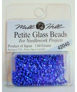 Mill Hill Petite Glass Beads for Needlework Projects 42040 Periwinkle - $1.25