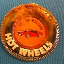 "MATTEL HOT WHEELS (1967) ""Custom Mustang"" red line metal pin (has some r... - $9.89"