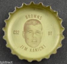 Vintage Coca Cola NFL Bottle Cap Cleveland Browns Jim Kanicki Coke King Size - $4.99