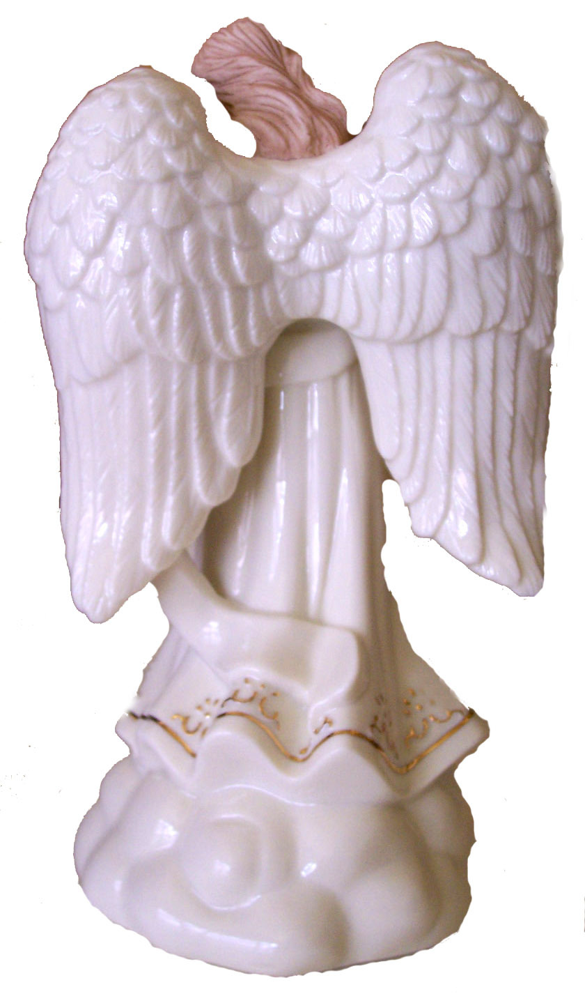 Geo. F. Lefton Angel with Trumpet Music Box