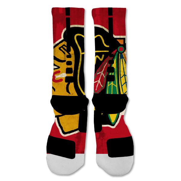 """Nike Elite socks custom Chicago Blackhawks  """"Fast Shipping"""""""