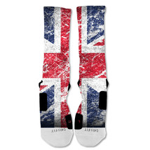 "Nike Elite socks custom British Flag ""Fast Shipping"" - $24.99"