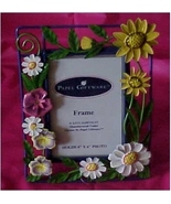 Floral Metal Picture Frame for 4 x 6 Photo - $20.00