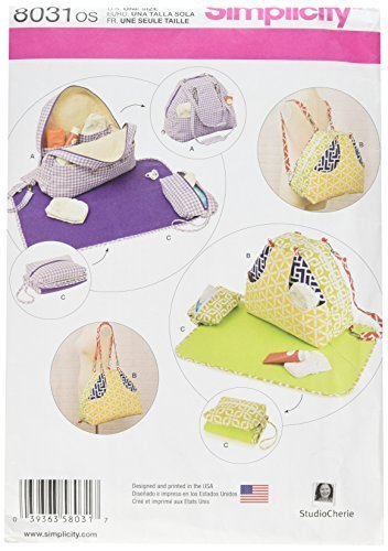 Simplicity Patterns Convertible Diaper Bags and Changing Pads Size: Os (One Size