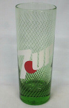 """7 Up 6 1/4"""" tall Glass 12 oz Green Glass with Green Dots - $20.68"""