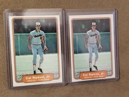 Two (2) 1982 Fleer Cal Ripken Rookie Cards (RC) - $23.24