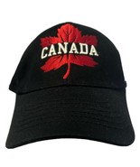 Canada Canadian Olympics Black Baseball Hat Large Maple Leaf Logo Hudson... - $14.69