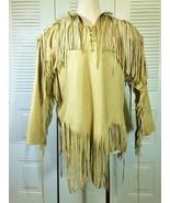 Men's Handmade Native American Mountain Man Leather Fringed Jacket FJ654 - $155.82+