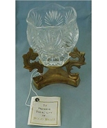 Votive Candle Holder, Elegant Brass & Crystal, NIB - $35.00