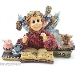 "Boyds Bears Estudious ""Cram"" Faeriebaum Resin Figurine Collectible Wee Folkstone - $16.99"