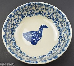 "Tienshan Animals Pattern Pottery Goose Coupe Cereal Bowl 6.5"" Wide Spong... - $9.99"