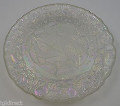 Imperial Glass 12 Days Of Christmas Pattern Four Colly Birds Plate No. 4... - $16.99