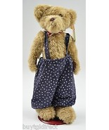 Goffa Brown Plush Teddy Bear Red Bow Tie Collectible Stuffed Animal - $17.99