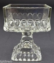"""Jeannette Glass Wedding Clear Pattern Wedding Bowl No Lid 4.375"""" Tall Home Decor - $14.99"""